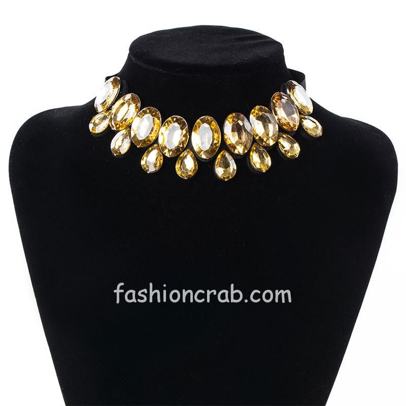 Trendy Golden Color Collar Necklace