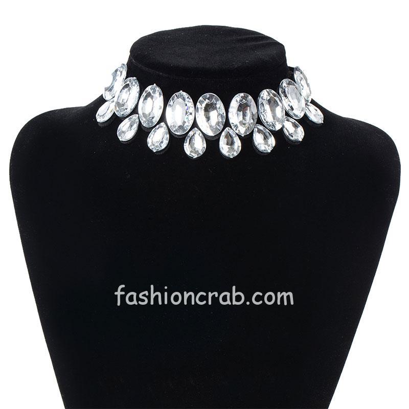 Trendy Silver Color Collar Necklace
