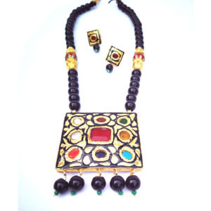 Black Onyx Necklace Set for Women