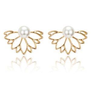 Lotus Flower Stud Earring for Girls