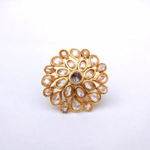 Partywear Indian Traditional Adjustable Ring for Women
