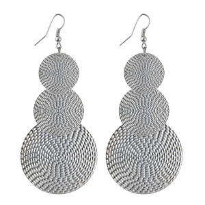 Silver Color Layer Drop Earring for Women