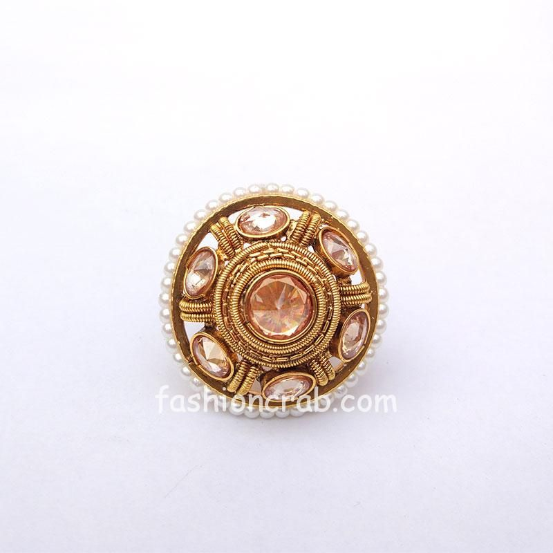 Traditional Polki Wedding Ring for Love