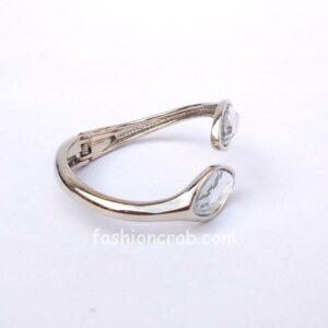White Crystal Silver Color Bracelet for Women