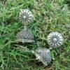 Oxidised Silver Designer Jhumka Earring