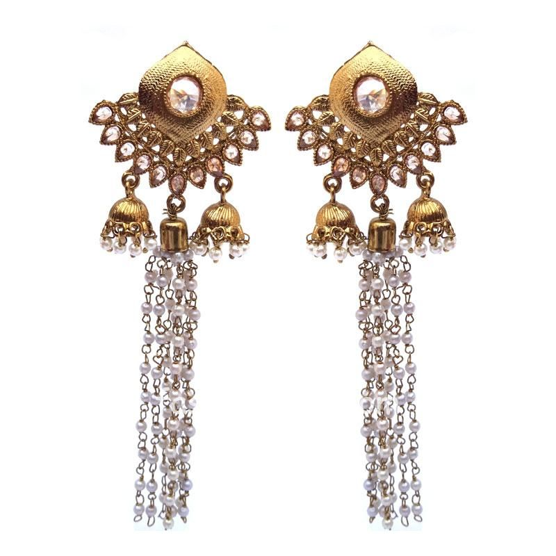 Golden Small Pearl Drop Earring for Women