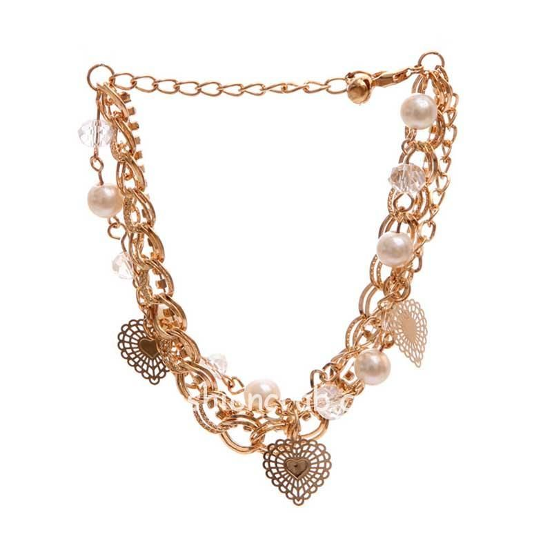 Multilayer Chain Charm Bracelet for Women