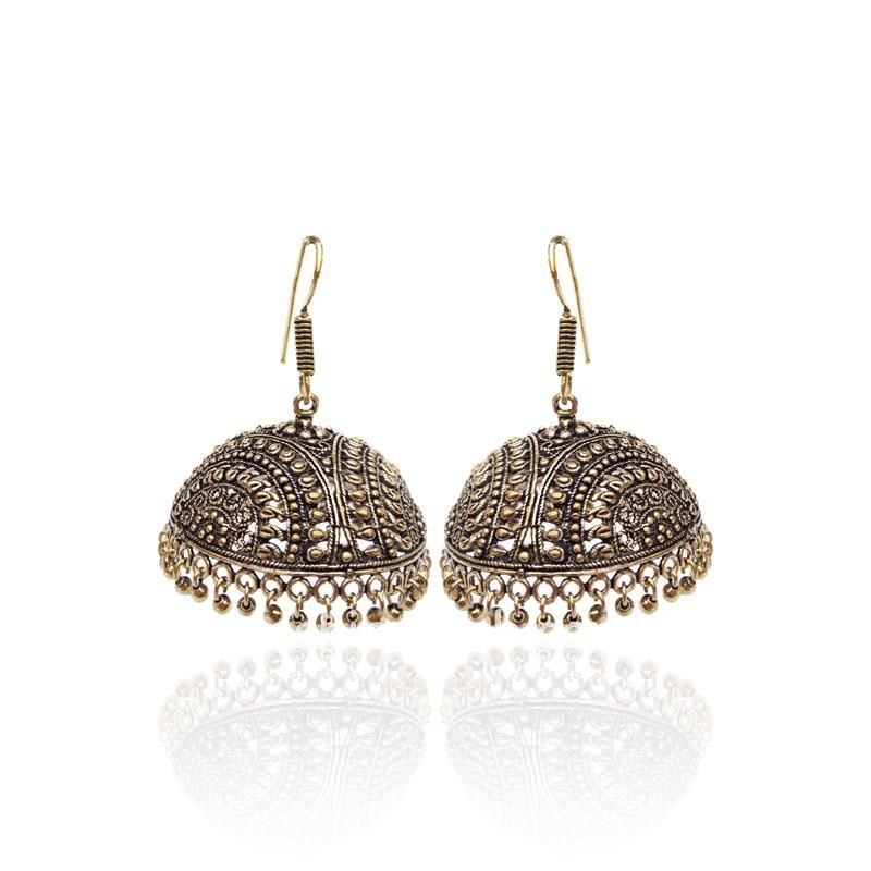 Designer Golden Jhumka Earring