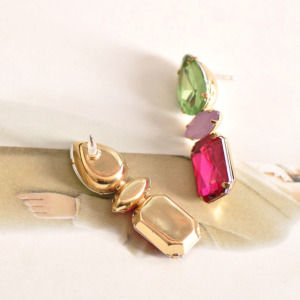 Green and Pink Earring for Women