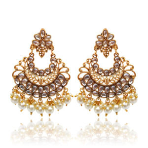 Indian Wedding Golden Drop Earring