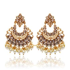 Indian Wedding Golden Drop Earring