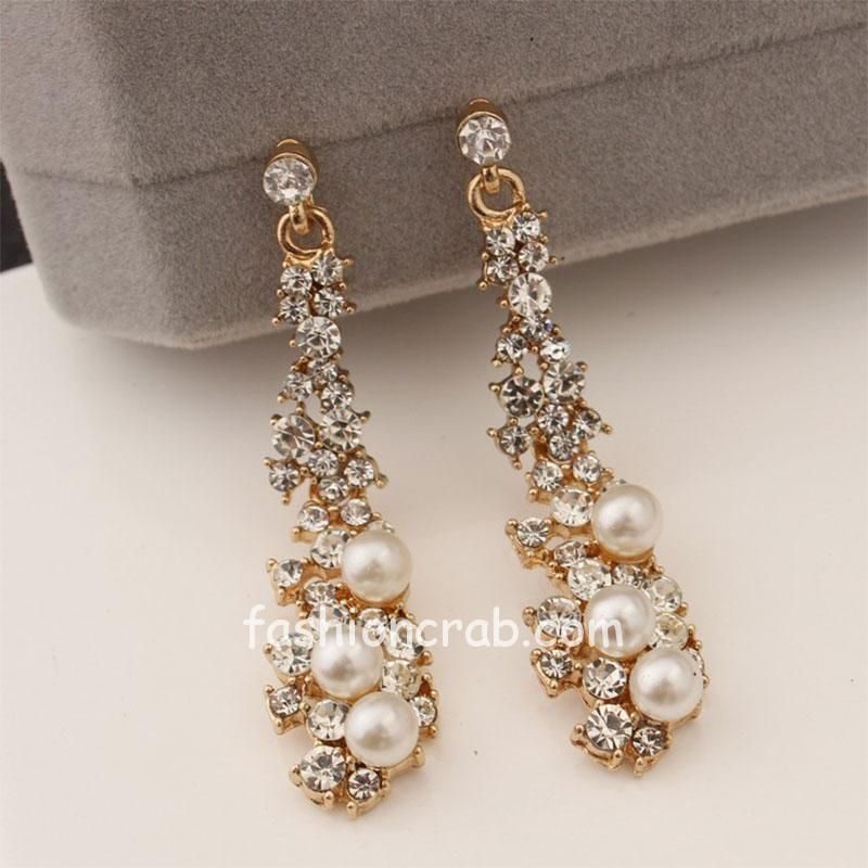 Pearl with Crystal Earring for Women