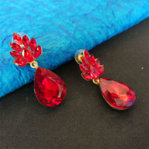 Red Crystal Drop Earring for Women