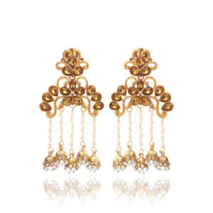 Temple Shaped Jhumka Earring for Ladies