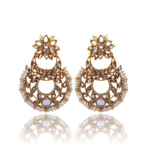Trendy Kundan Pearl Drop Earring