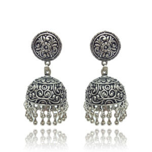 Tribal German Silver Jhumka Earring