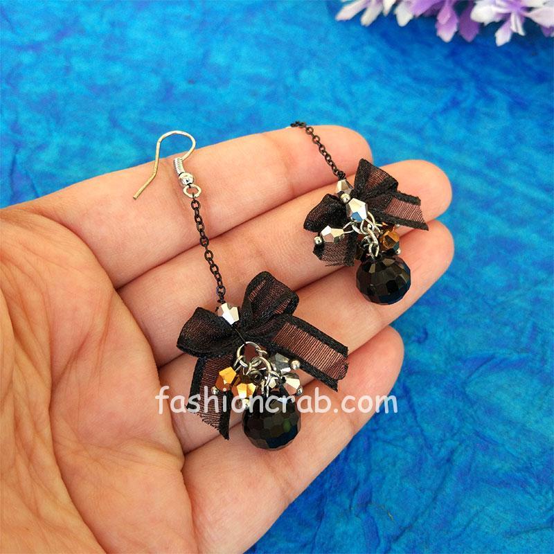 Black Pearl Drop Earring