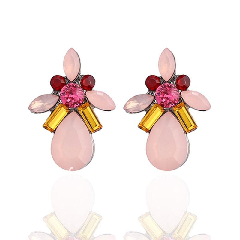 Delicate Dreamy Pink Colorful Drop Party and Casual Earring for Girls and Women