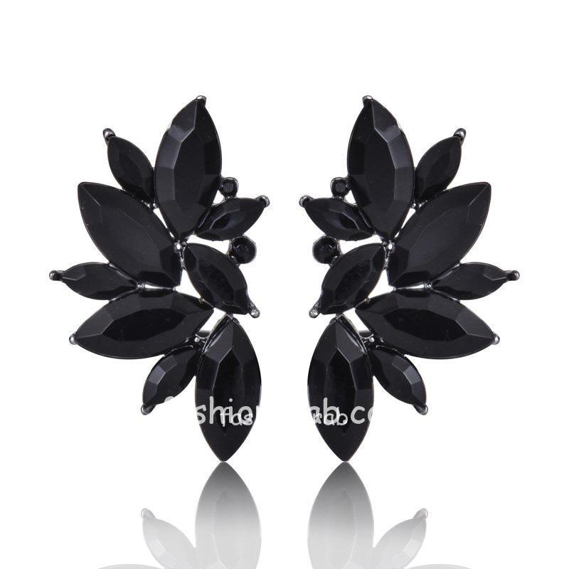 Black Stud Fashion Earrings for Women