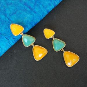 Candy Colorful Resins Long Pendants Drop Earrings for Women