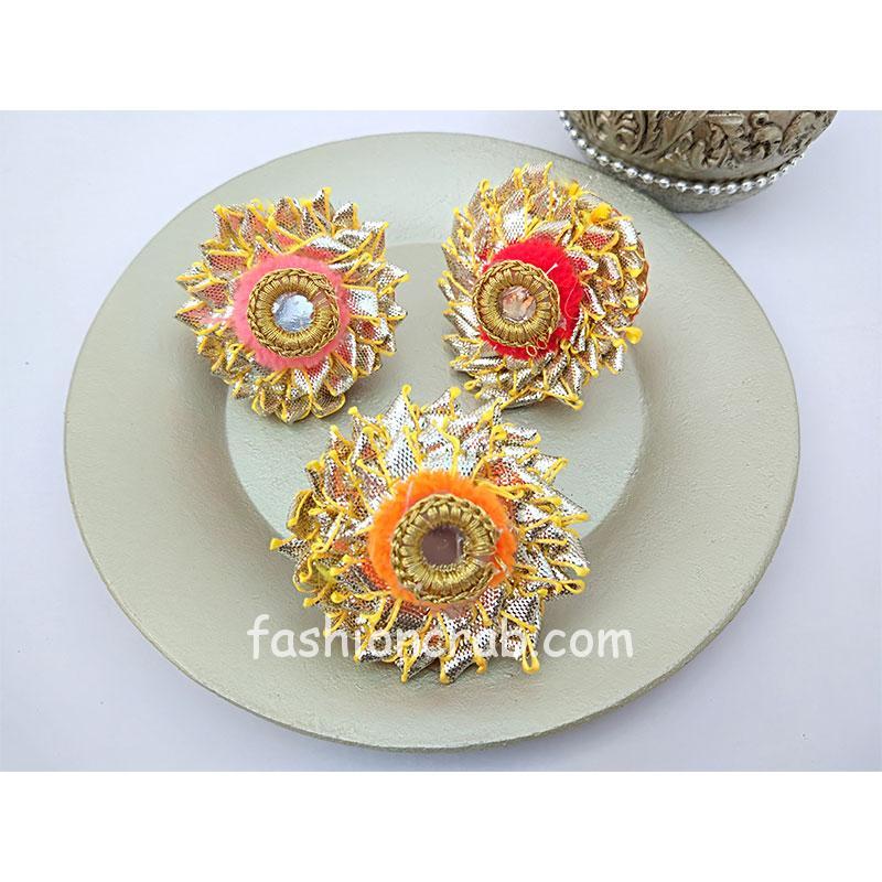 Multicolor Gota Patti Rings