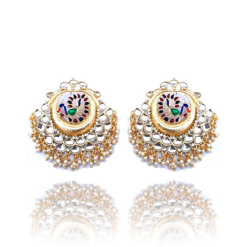 Multicolor Peacock Designer Earrings for Women