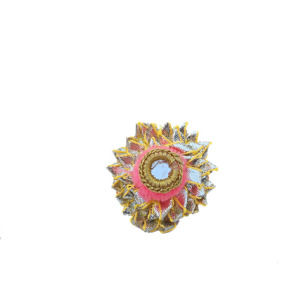 Pink Color Gota Patti Ring