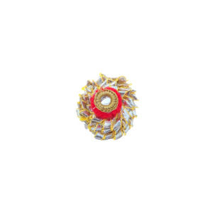 Red Color Gota Patti Ring