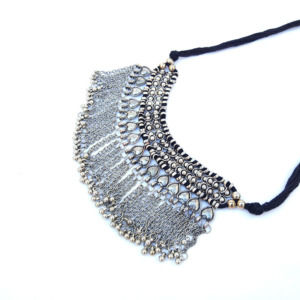 Oxidised Silver Choker Necklace for Party