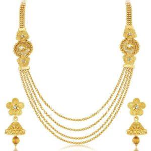 Golden Color Jewellery Set for Wedding