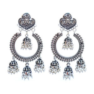 Charming Oxidised Silver Classic Earring for Festivals