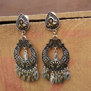 Designer Dual Tone Earrings