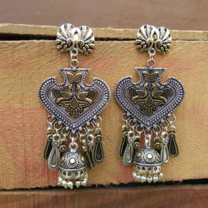 Fine Quality Dual Tone Jhumka Earring