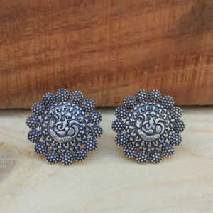 Ganesh Oxidised Studs for Women