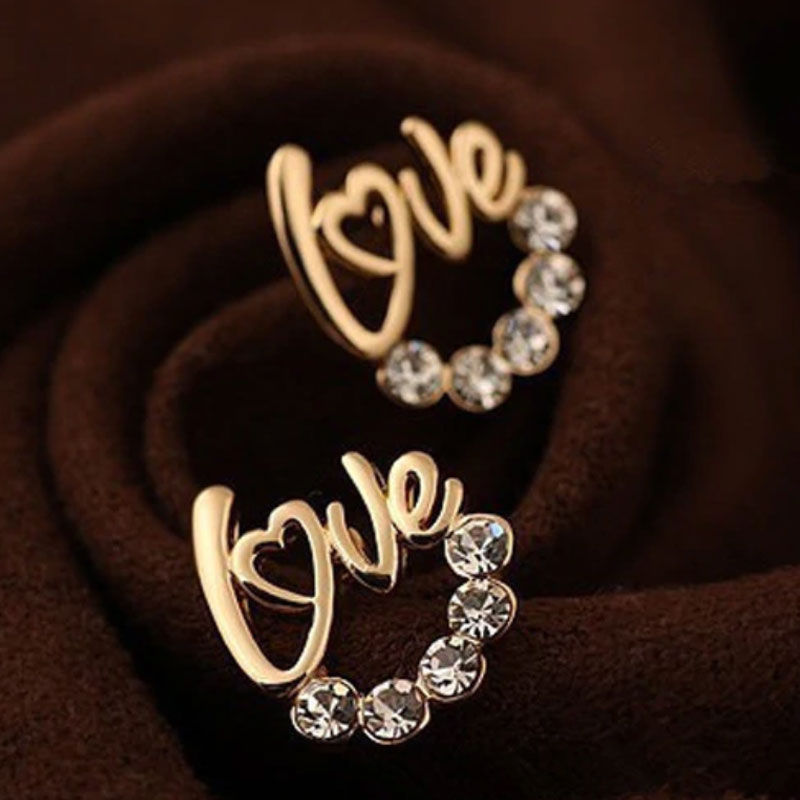 Love Stud Earrings for Girls