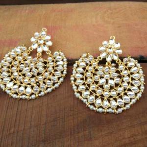 Beautiful Kundan Chandbali Earring