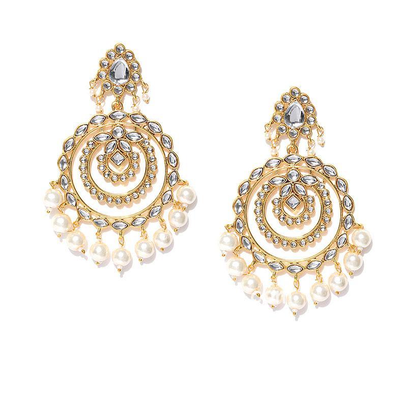 Bollywood Style Kundan Chandbali Earring