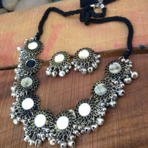 Afghani Boho Mirror Necklace Set for Women