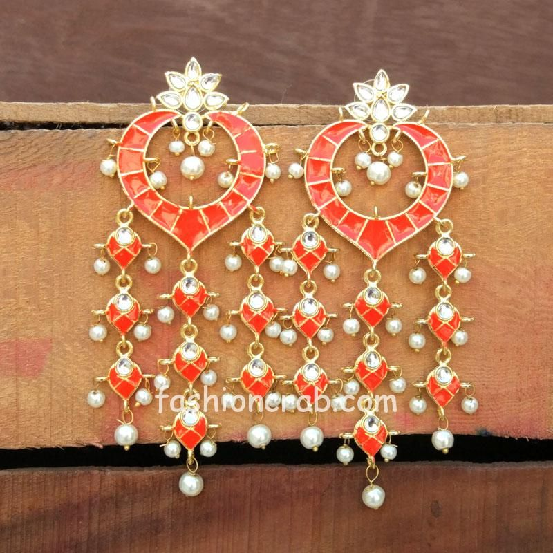 Orange Traditional Earrings