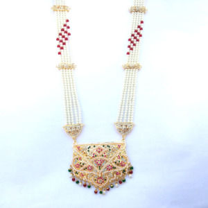 Punjabi Traditional Jadau Necklace Set