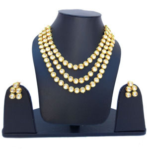 Three Layer Kundan Necklace Set