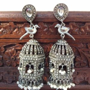 Bird Cage Earrings for Gown