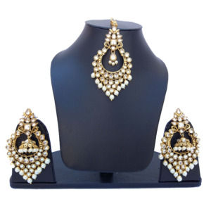 Traditional Maang Tikka with Earring Set for Wedding