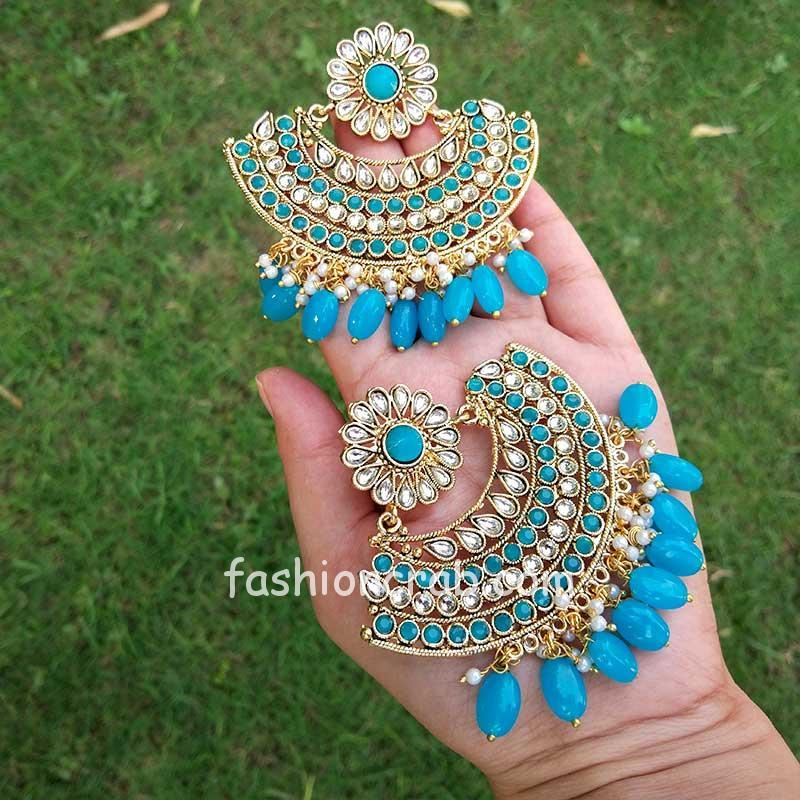Pearl Chandbali Earrings for Women