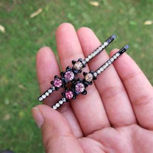 Pink Crystal Designer Hair Pin for Wedding
