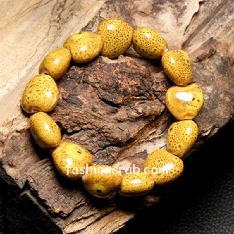 Heart Shaped Vintage Beaded Charm Bracelet