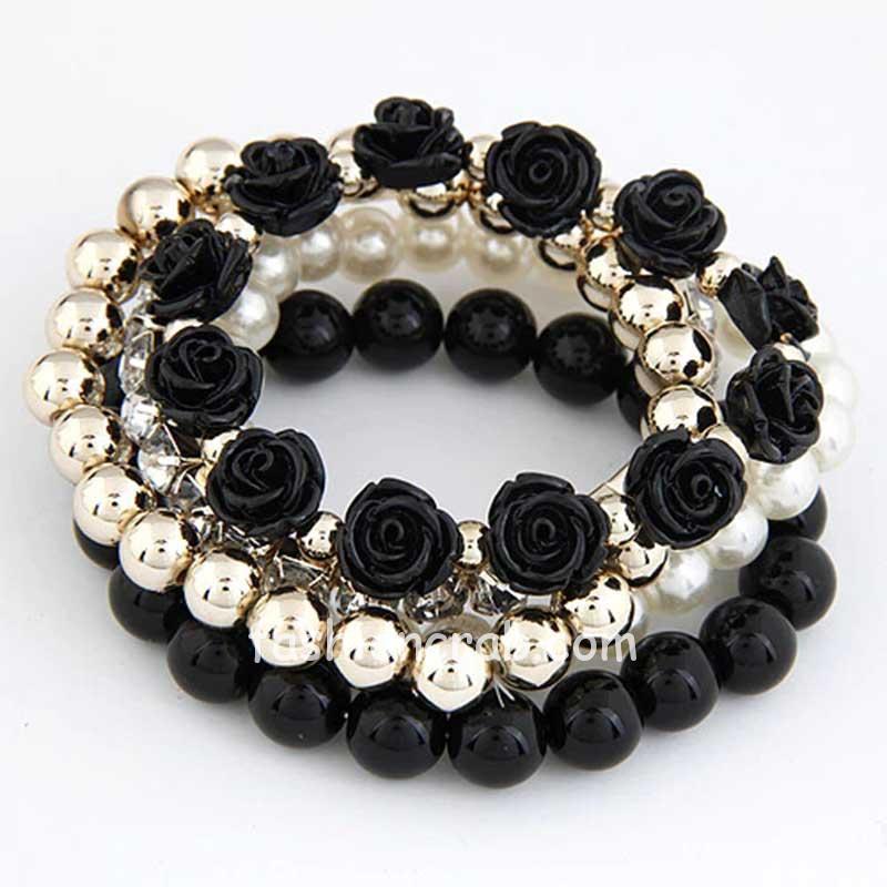 Multilayer Beads Adjustable Charm Bracelet