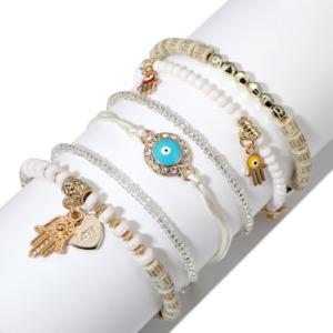 6 Pcs Set Hand Charm Bracelet-Anklet