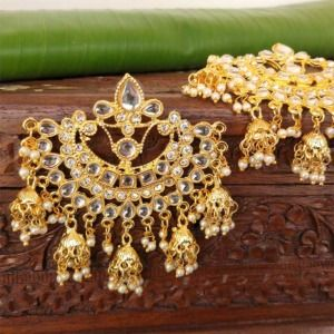 Kundan Chandelier Earrings