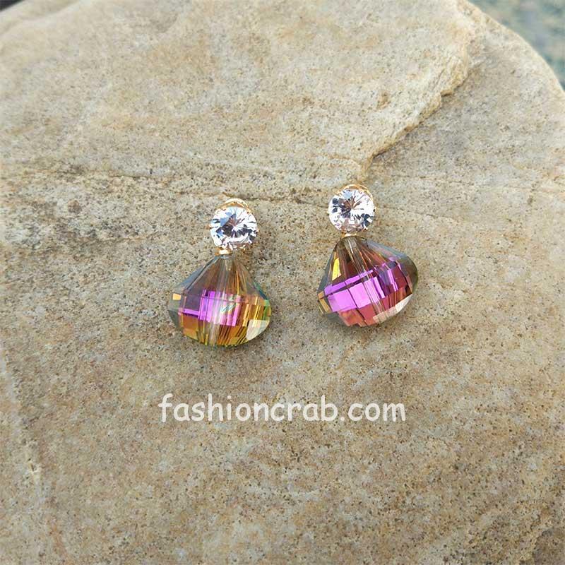 Colored Crystal Earrings
